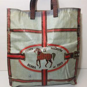 FENDI Selleria Vintage Tote Handbag